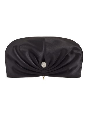 Jimmy Choo VIVIEN Black Satin Clutch Bag