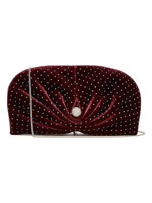 Jimmy Choo Vivien embellished velvet clutch bag