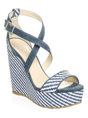 Jimmy Choo woven wedge sandals