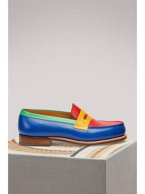 J.m. Weston Box Leather Loafers