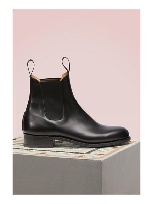 J.m. Weston Cambre Box Calf Chelsea Boots
