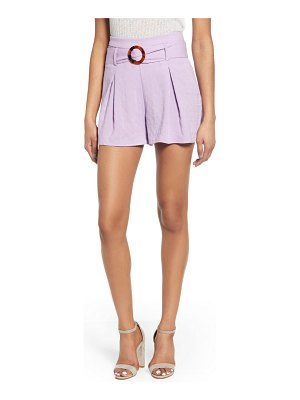 J.O.A. belted flare shorts
