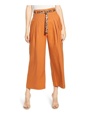 J.O.A. belted wide leg pants