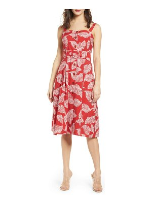 J.O.A. button front fit & flare dress
