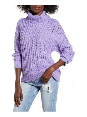 J.O.A. cable knit turtleneck sweater