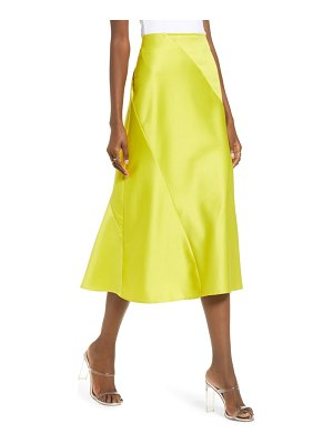 J.O.A. satin bias cut midi skirt