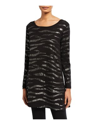 Joan Vass Animal Sequined Tunic