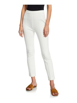 Joan Vass Ankle Pants with Front Seam Detail
