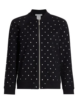 Joan Vass bauble stud bomber jacket