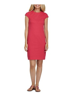 Joan Vass Cap-Sleeve Casual Dress