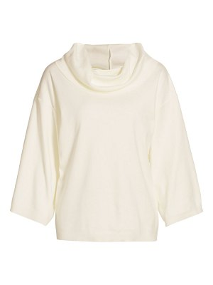 Joan Vass cowl-neck cotton pullover sweater