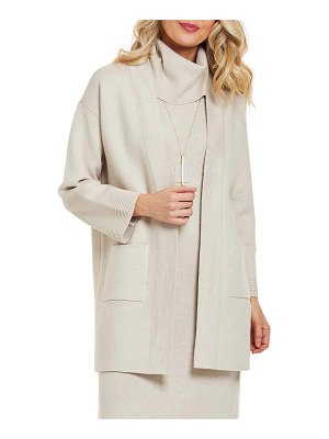 Joan Vass Long Cardigan Sweater