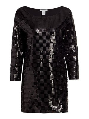 Joan Vass sequin square tunic
