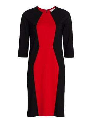 Joan Vass silhouette colorblock dress