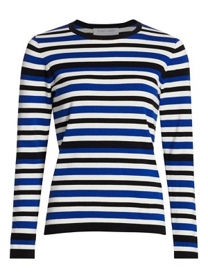 Joan Vass striped crewneck sweater