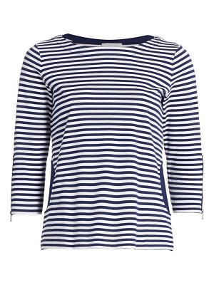 Joan Vass striped pocket top