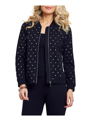 Joan Vass Studded Bomber Jacket