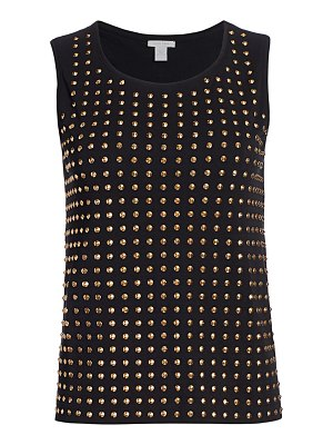 Joan Vass studded sleeveless top