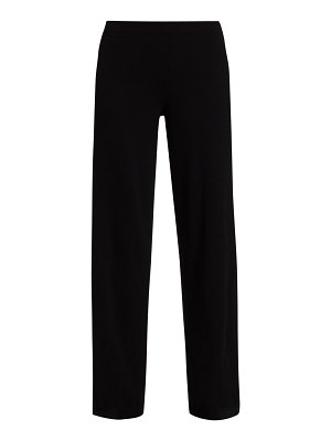 Joan Vass wide-leg wool & cashmere sweater pants