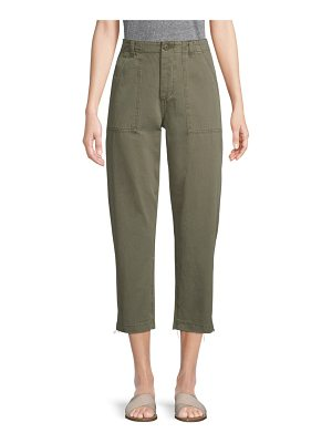 Joe's high-rise straight-leg cropped pants