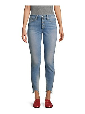 Joe's Jeans bella high-rise ankle skinny distressed hem button jeans