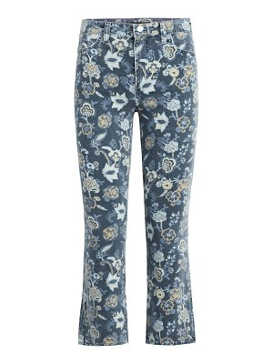Joe's Jeans callie high-rise floral cropped jeans