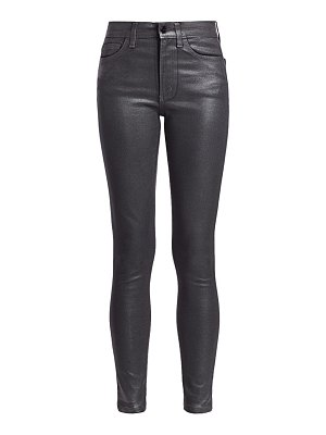 Joe's Jeans charlie high-rise ankle skinny coated jeans