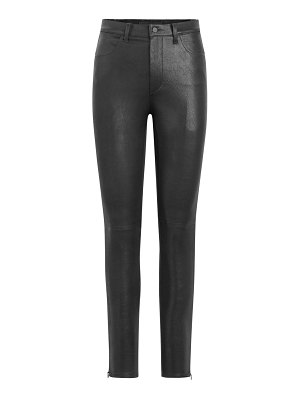 Joe's Jeans charlie high-rise leather ankle skinny pants
