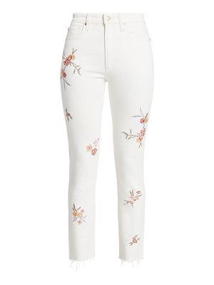 Joe's Jeans the luna high-rise skinny floral ankle jeans