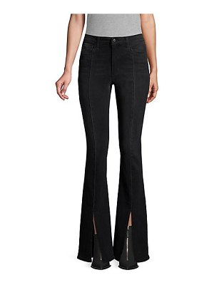Joe's Jeans olympia high-rise flare front vent jeans
