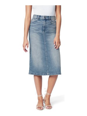 Joe's the a-line cutoff denim pencil skirt