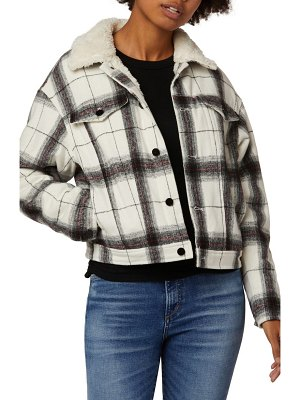 Joe's the ally plaid jacket with faux fur collar