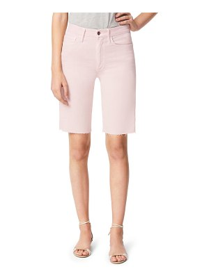 Joe's the bermuda high waist raw hem denim shorts