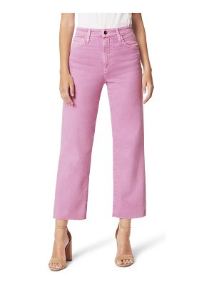 Joe's the blake high waist raw hem crop wide leg jeans