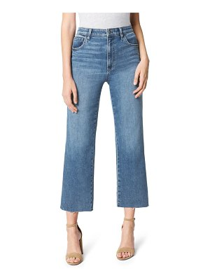 Joe's the blake raw hem crop wide leg jeans