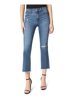 Joe's the callie distressed high waist fray hem crop flare jeans