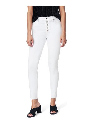 Joe's the charlie exposed button high waist ankle skinny jeans