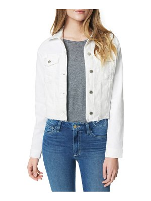 Joe's the crop raw hem denim jacket