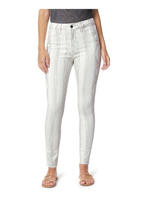 Joe's the hi honey snakeskin print high waist crop skinny jeans