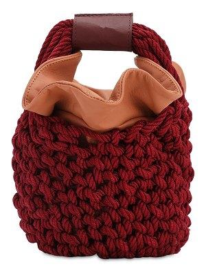 Johanna Ortiz Escucho el pacifico ruby knit bucket bag
