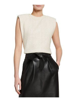 Johanna Ortiz Floating Lily Cotton Puff-Sleeve Top