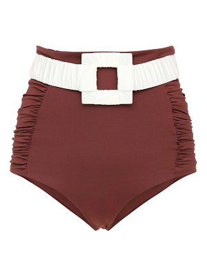 Johanna Ortiz High waist lycra belted bikini bottoms