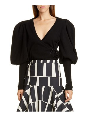 Johanna Ortiz juliet sleeve cashmere wrap sweater