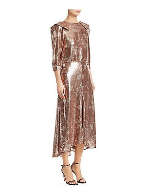 Johanna Ortiz metallic floral midi dress