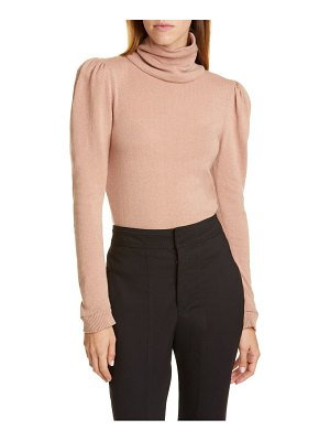Johanna Ortiz open back puff shoulder cashmere sweater