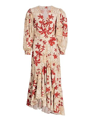 Johanna Ortiz peaceful easy feelings wrap midi dress
