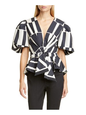 Johanna Ortiz print cotton & silk poplin top