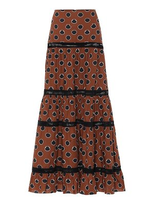 Johanna Ortiz printed cotton maxi skirt