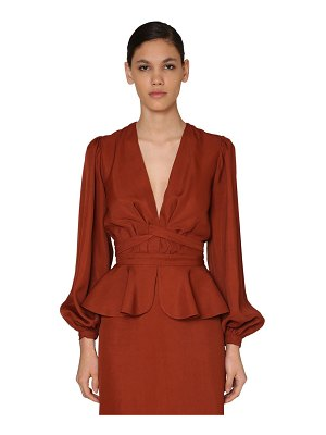 Johanna Ortiz Wrapped cotton drilled blouse