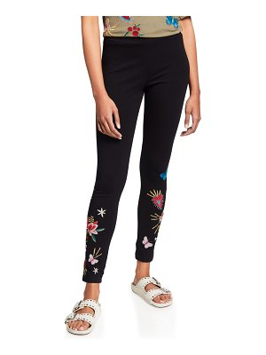 Johnny Was Adara Embroidered Cotton Leggings